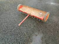 Ride on lawn mower quad 4ft lawn paddock aerator slitter tractor
