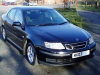 2007 Saab 9-3 Linear 1.9tid. 6 Speed Manual. Cambelt Changed. Service History. Mot Sept. Black 93.