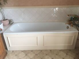 Lovely long enamel bath MUST GO THIS WEEK