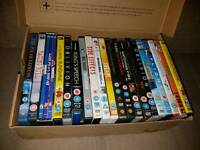 Box of dvds and a blu ray