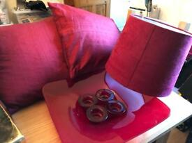 Red accessories for room ,