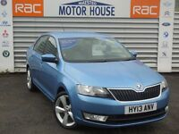 Skoda Rapid ELEGANCE GREENTECH TDI CR FREE MOT'S AS LONG AS YOU OWN THE CAR!!! (blue) 2013