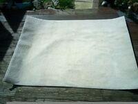 Light colour/ cream rug 165cm x116cm