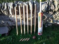 Kookaburra cricket bat and cricket stumps