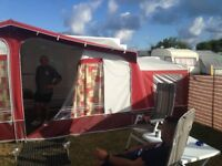 Dorema Montana full awning and two tall annex