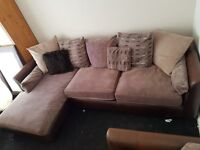 Corner unit sofa and chair