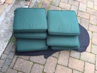 6 Garden Chair Cushion Seat Pads