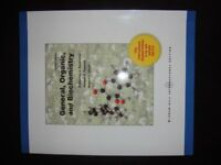 General, Organic and Biochemistry Paperback Book, Seventh Edition. Brand New, Penniston etc.