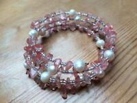 Rose quartz & pearl bracelet