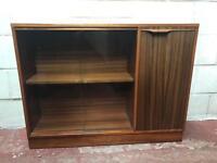 Morris of Glasgow teak wooden bookcase