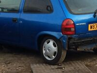 Corsa b parts. Arden blue 3 door. Please message for requirements.