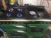 Leisure range gas cooker green 110cm
