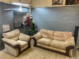HARVEYS FABRIC SOFA SET 3+1 SEATER IN EXCELLENT CONDITION