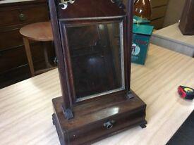 Antique Vanity Mirror with Draw