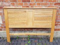 Solid Oak Headboard for Double Bed.