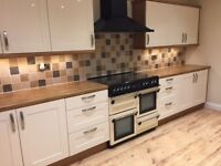 Leisure Cookmaster 101 Range Cooker (cream) and cooker hood