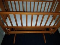 Mothercare gliding crib with mattress, CAN DELIVER