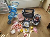 Selection of dolls equipment