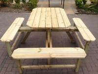 Garden furniture 8 seater beer table
