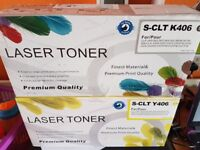 Black and yellow printer toners Samsung CLP365