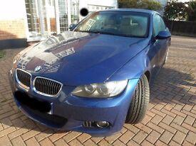 BMW 3 SERIES 3.0 330d M Sport 2008/08 2dr Convertible SATNAV Le Mans Blue Cream Leathers