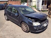 VW GOLF MK5 1.6FSI 6 SPEED MANUAL 2006 COLOUR CODE LC5F BREAKING FOR PARTS