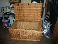 Large heavy weave wicker basket.