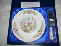 AYNSLEY Cake Plate with Server.
