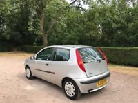 FIAT PUNTO 1.2 GO PETROL 02 REG MOT APRIL 10TH 2019 TIMING BELT REPLACED LOW INSURANCE 48+ MPG