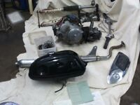 vintage 1970 HONDA S 90 SPARES, KIT, ( MONKEY BIKE ) ENGINE WITH CLUTCH,