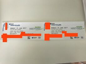 2x FRONT ROW tickets to Aegon Championships - Queens Club, possibly Andy Murray - Monday 19th June