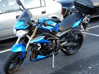 Triumph Street Triple, 675cc, low miles and exc condt