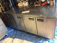 FOSTER STAINLESS STEEL work top 3 door fridge
