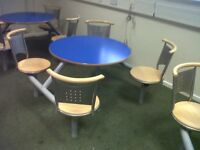 CANTEEN/CAFE TABLES, SEATS
