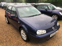 2003 VW VOLKSWAGEN GOLF GT TDI 150 SIX SPEED BLUE 5DR HATCHBACK