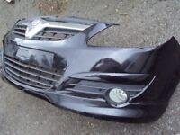 VAUXHALL CORSA D SRI 2010 BUMPER WITH SPOILER, BONNET, AND TAILGATE WITH SPORTS SPOILER, BLACK