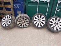 Set of 19 inch vauxhall insignia alloys