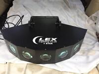 LEX LIGHTING LEX 7 STAR LED LIGHT - 189 LED'S, 3 COLOURS, RED, GREEN, BLUE