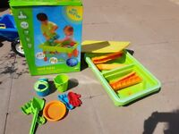 sand and water table plus toys