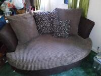 Cuddler and corner sofa