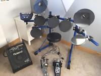 Roland TD6 Electric Drum Kit + Roland Drum Amp + Drum Stool