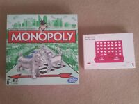 Nearly new Monopoly and Connect 4 style game for sale