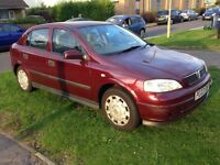 VAUXHALL ASTRA CLUB 8V, 1.6, 2003, PETROL, RED, IN GOOD CONDITION, LONG MOT