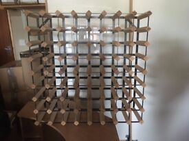 Large Wine Racks, Each Holds 64 Bottles, Floor or Wall Mount, 4 Available £40 each
