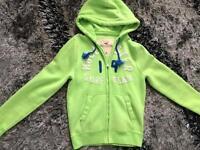 Hollister - Men's medium Green hoodie top