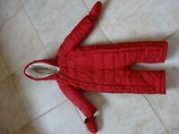 Pram suit - fleece lined, super warm! 12-18months