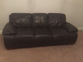 Leather sofa 2 seater and 3 seater