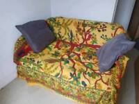 Futon convertible small double sofa / sofa bed