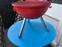 BODUM Fyrkat Red Picnic BBQ Barbecue 35cm Grill Charcoal Camping Portable