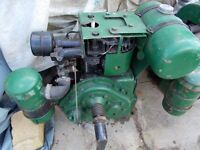 Two Petter Stationary Engines and EC Atkins Mechanical Saw - Spares or repair